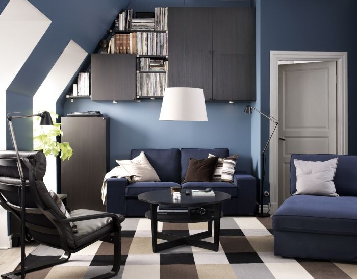 kuhle dekoration schreibtisch ikea mikael, kivik zitbank | #ikea #bank #woonkamer #blauw | woonkamer, Innenarchitektur