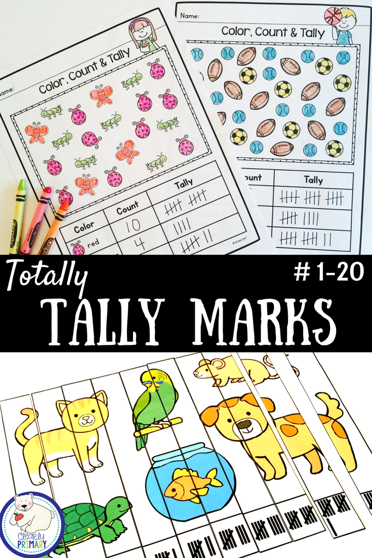 Tally Marks Worksheets Activities Puzzles Tally Marks Pre