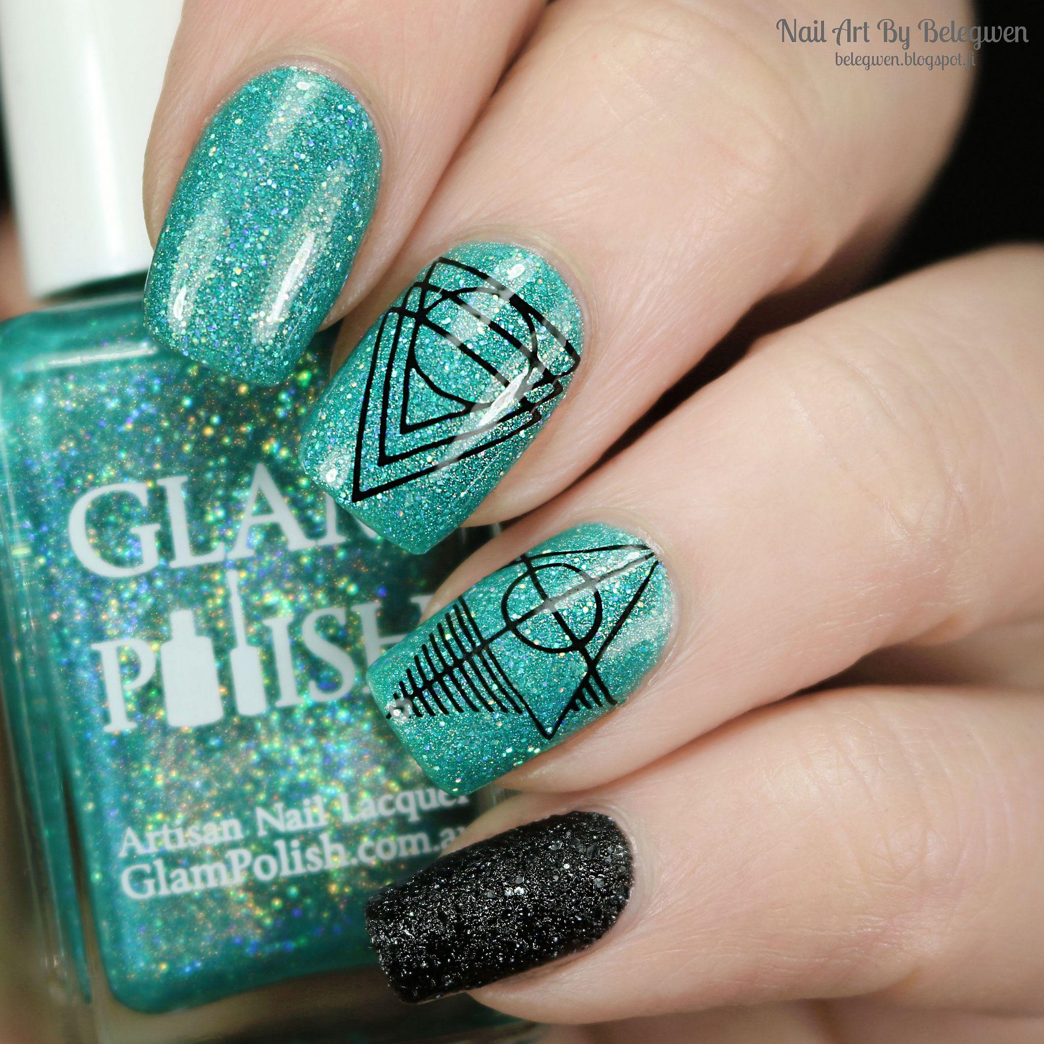 Nail Polish With Glitter Underwear  499b2e79b