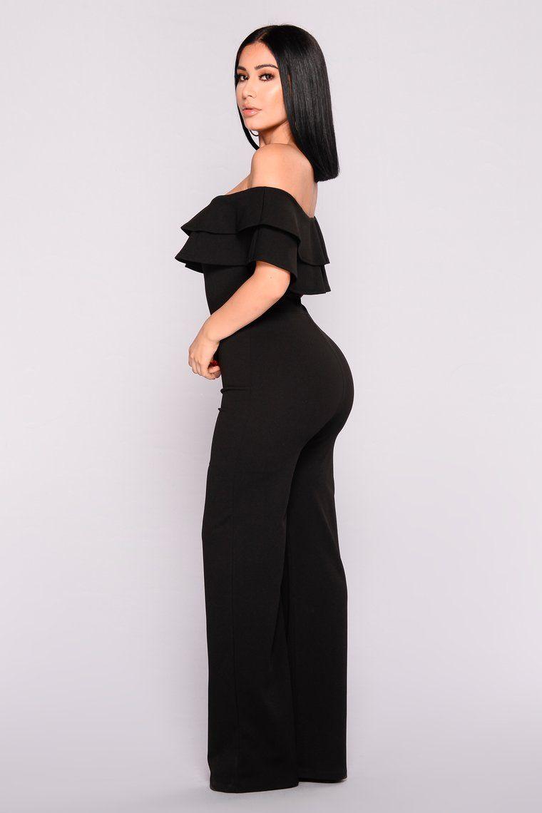 Ready To Ruffle Jumpsuit Black Black Mermaid Dress Jumpsuit Fashion Cute Skirt Outfits [ 1140 x 760 Pixel ]