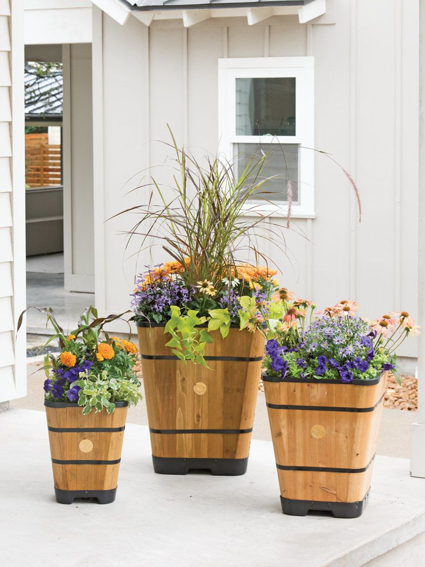 Vegtrug Tapered Square Barrel Planter Gardener S Supply