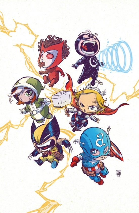 Rogue Scarlet Witch Havak Thor Captain America And Wolverine