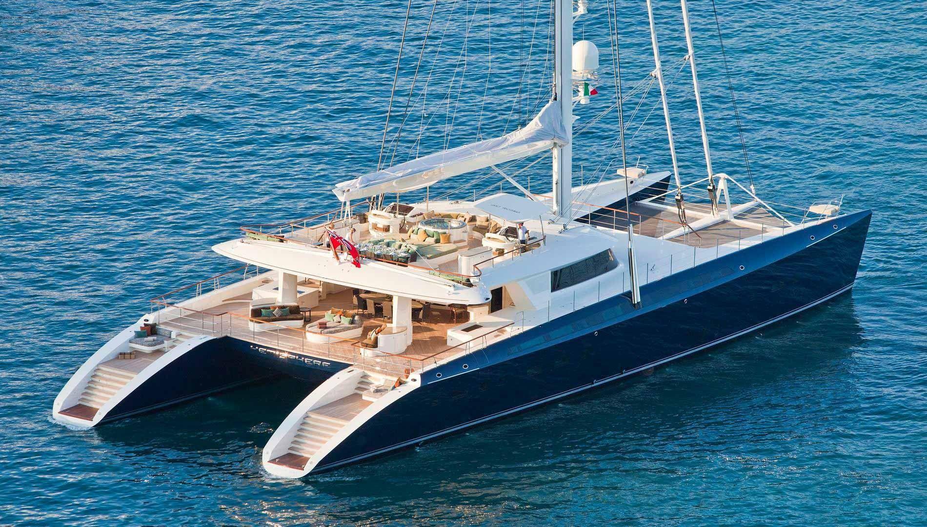 Katamaran segeln luxus  HEMISPHERE Superyacht | Luxury Sail Yacht for Charter with Burgess ...