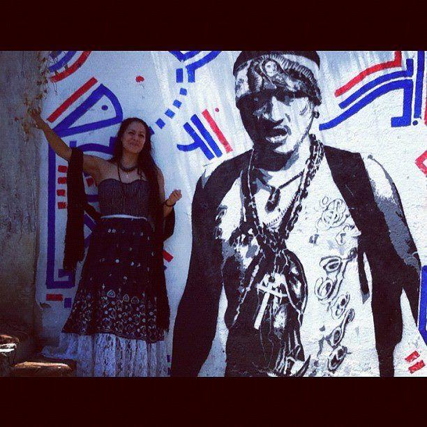 Lila y stencil en la panorámica de Oaxaca