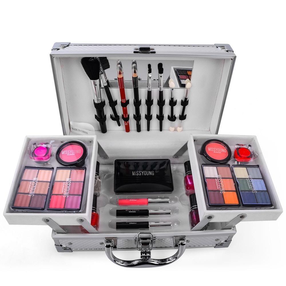 Miss Rose Professional Cosmetic Case Makeup Kit Eye Shadow