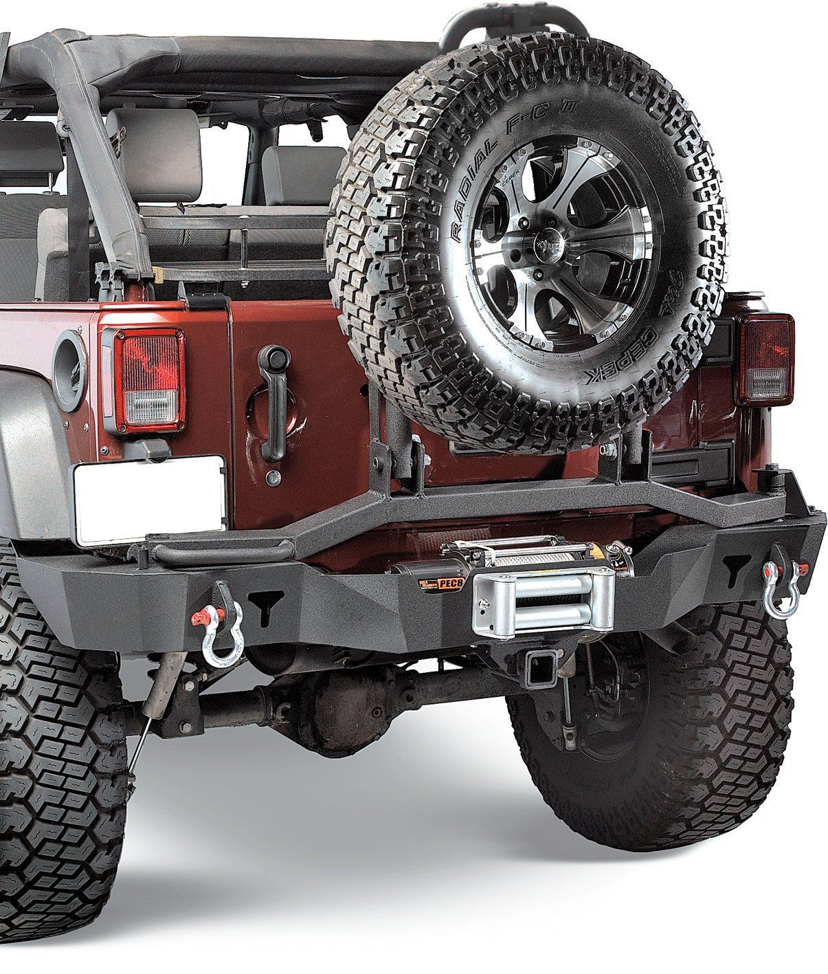 The New Olympic 4x4 Rear Bumper With Tire Swing Swings Out
