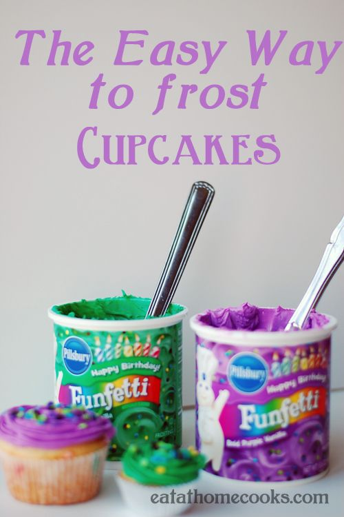 easy way to frost cupcakes