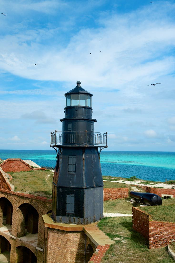Garden Key Lighthouse at the Dry Tortugas.