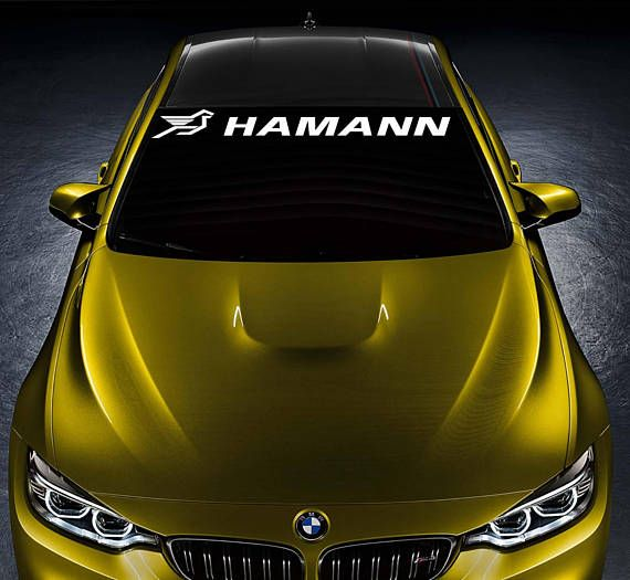 BMW HAMANN Tuning Sport Car Vinyl Sticker Bumper Windshield