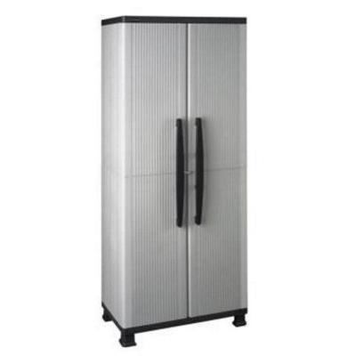 Hdx 27 In W 4 Shelf Plastic Multi Purpose Cabinet In Gray
