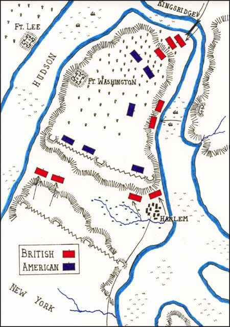 Battle Of Fort Washington Map By John Fawkes American