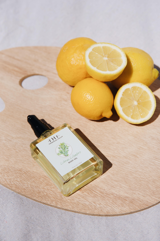 Citrus Cilantro Body Oil in 2020 Body oil, Olive fruit