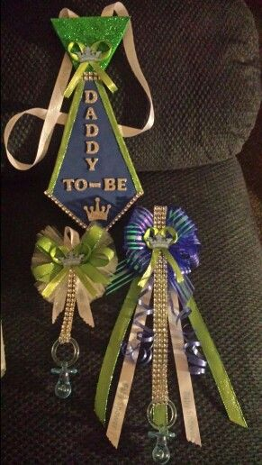 Baby Shower Corsages For Daddy Mommy And Big Sister Baby