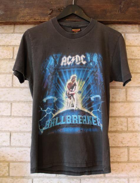7cd42f32 Vintage 1996 ACDC Ballbreaker World Tour Concert T Shirt – Black Shag  Vintage
