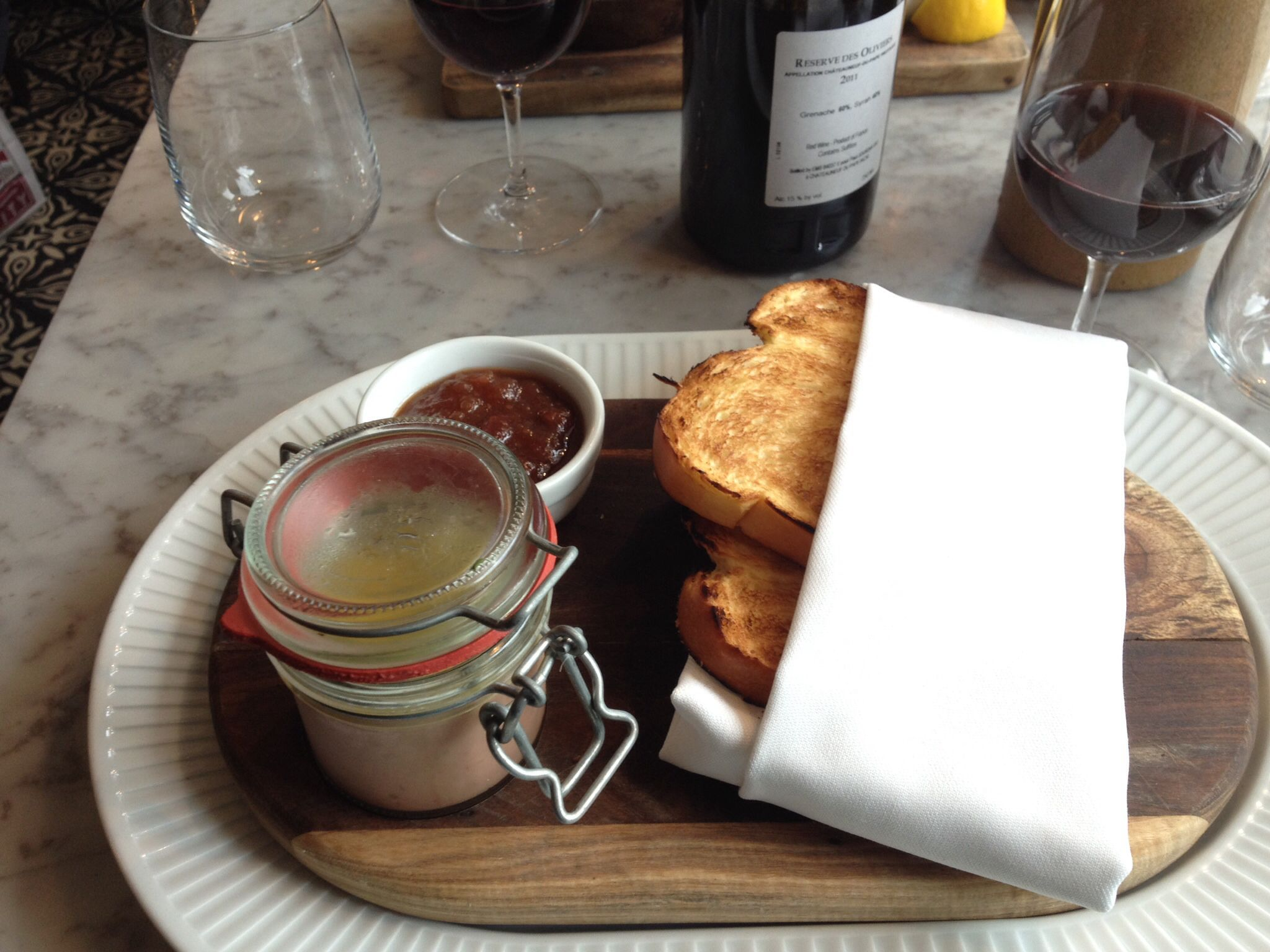 Duck pate warm brioche and apple chutney cote restaurant for Blackberry and apple jam recipe bbc