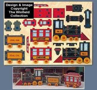 Choo Choo Train Puzzle Pattern