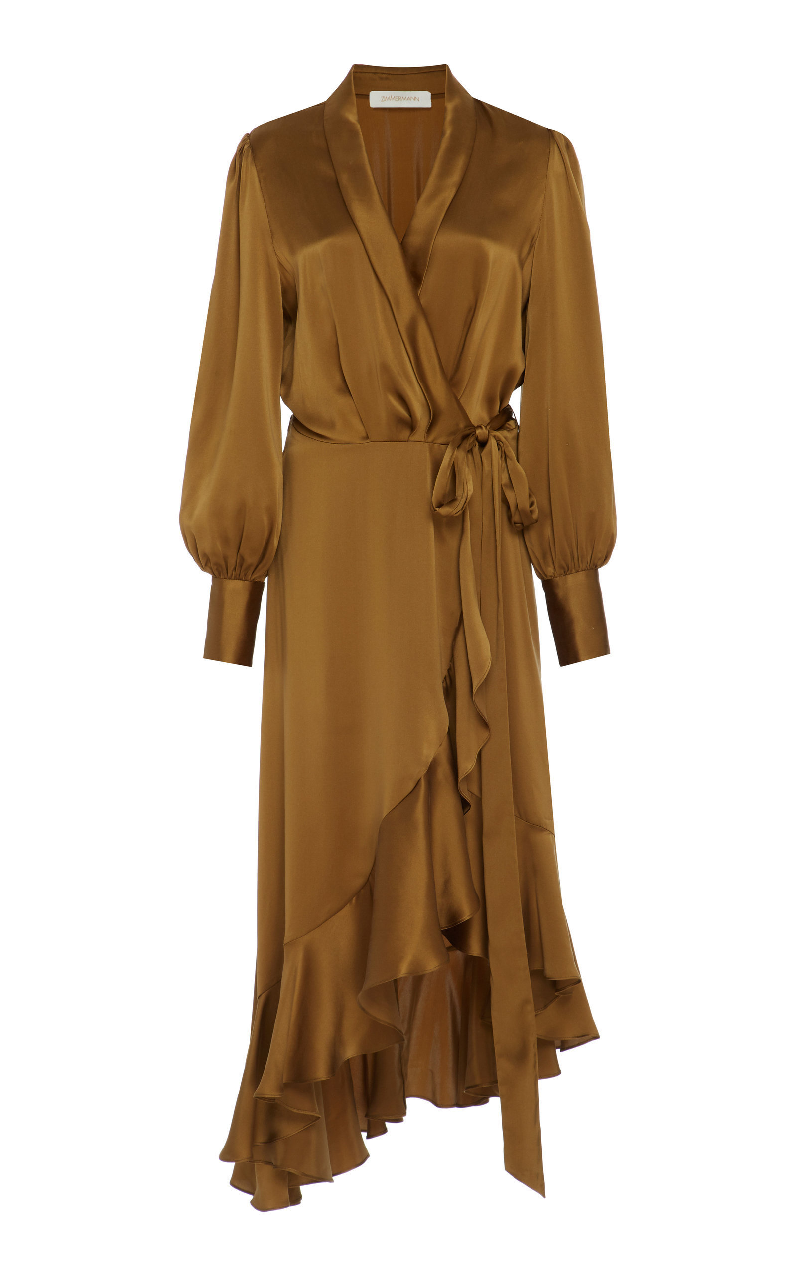 47837cfe74 Zimmermann Wrap-Effect Silk Midi Dress | Products in 2019 | Dresses ...