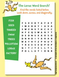 the lorax word search plants pinterest lorax word search and character counts. Black Bedroom Furniture Sets. Home Design Ideas