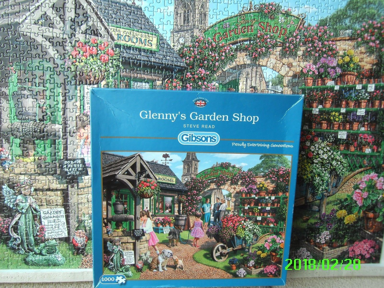ad66db0ab446 1000 PIECE GIBSONS JIGSAW PUZZLE - GLENNY'S GARDEN CENTRE - ALL COMPLETE    eBay