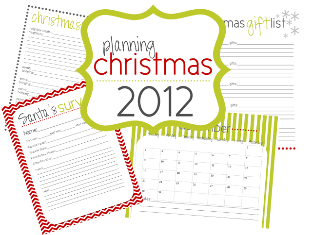 Christmas printables to help keep you organized during a hectic time ...