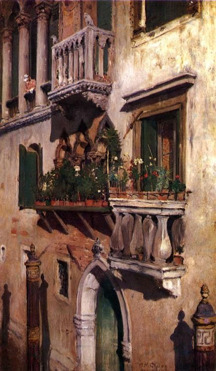 Venice, 1877, William Merritt Chase. American (1849 - 1916)