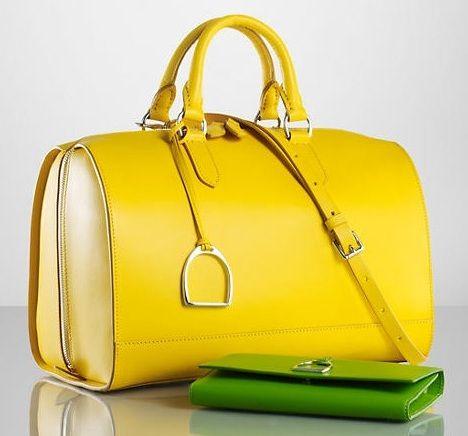 Ralph Lauren Vachetta Stirrup Boston Bag.  c94dae3e3271b