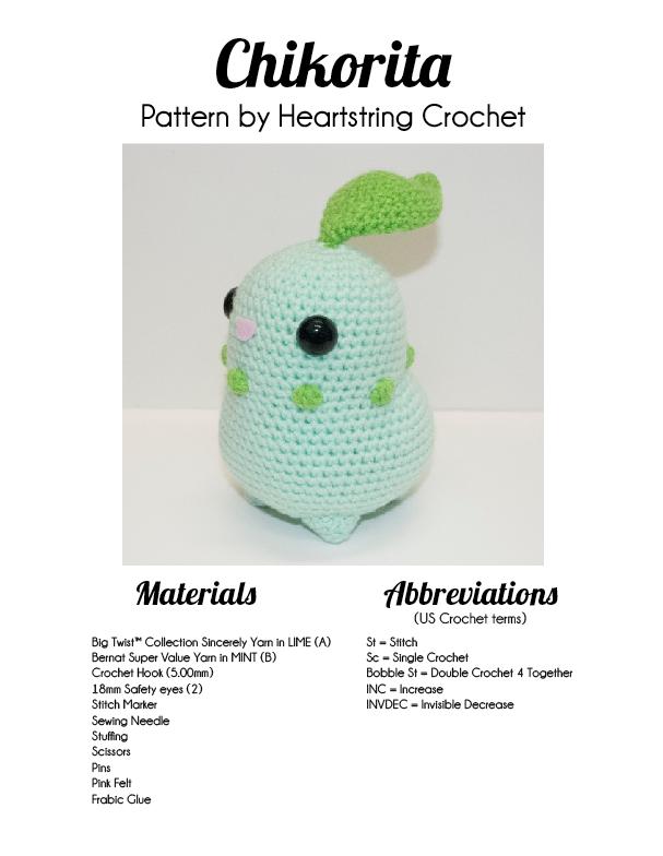 Chikorita Pattern by Heartstringcrochet.deviantart.com on ...