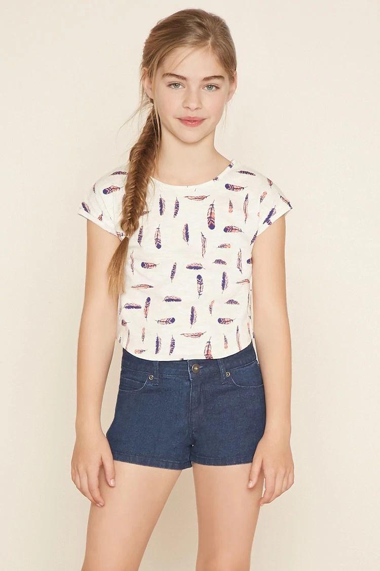 Girls Denim Shorts (Kids) #f21kids | forever21 | girls | Pinterest ...