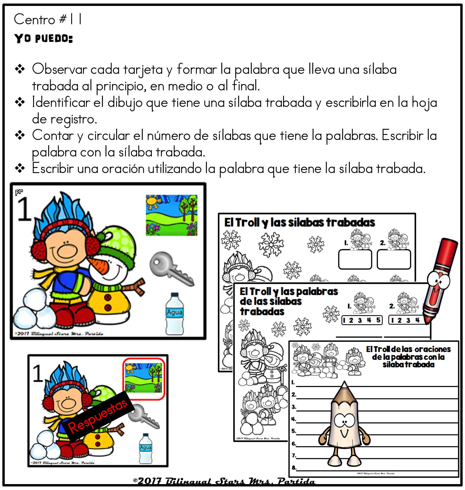 Pin By Bilingual Stars Mrs. Partida On Sílabas Trabadas