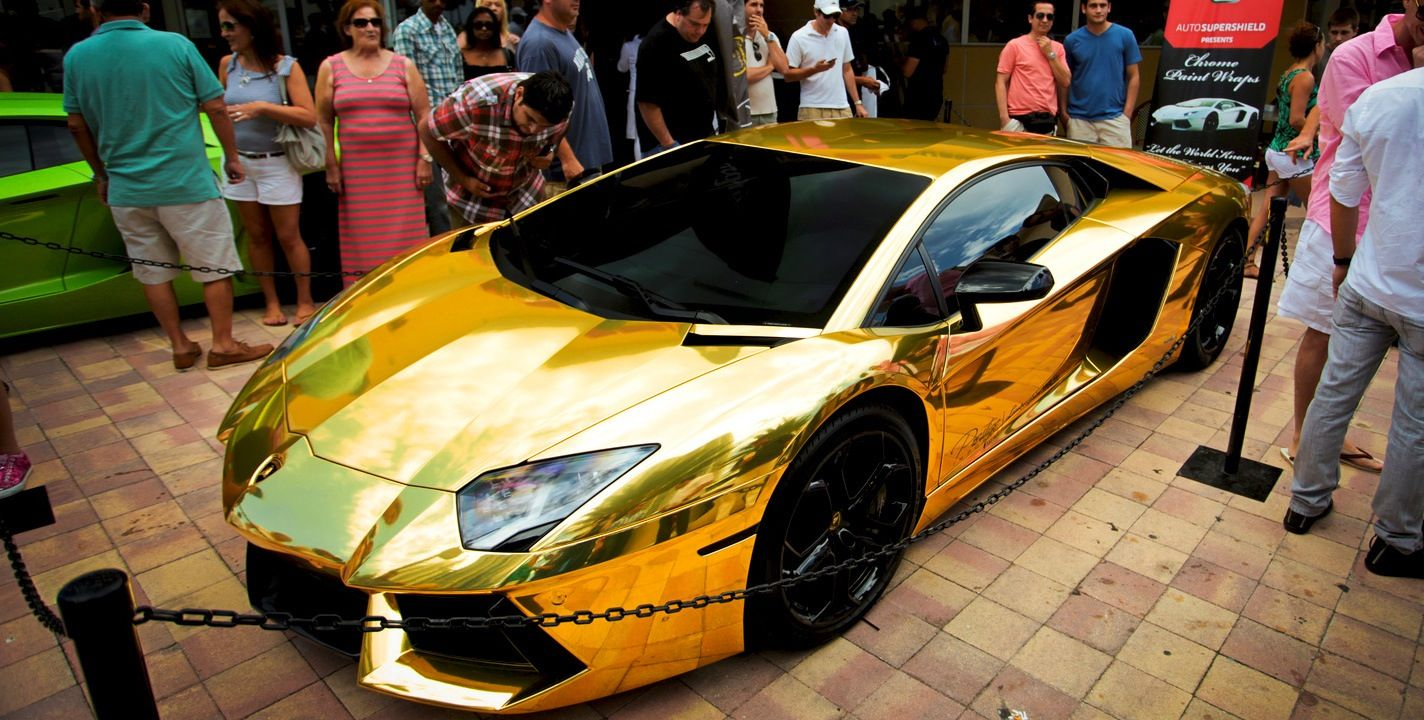 Gold Lamborghini Aventador …and it can be yours for just a half a ...