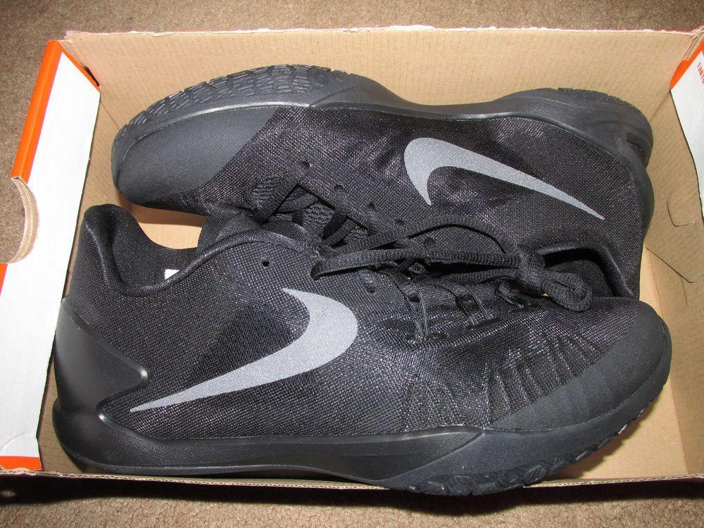 2448b5a2fb92 Nike Hyperchase Mens Basketball Shoes 9.5 Triple Black 705363 003  Nike   BasketballShoes