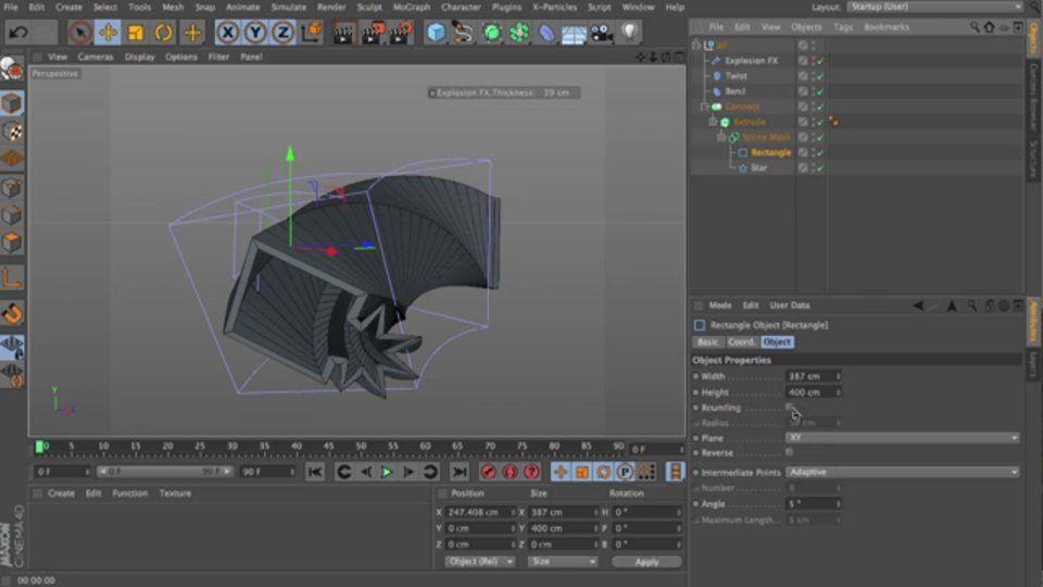 Parametric Modelling In Cinema 4d Using Primitive Splines Generators And Deformers On Vimeo Cinema 4d Cinema 4d Tutorial Cinema
