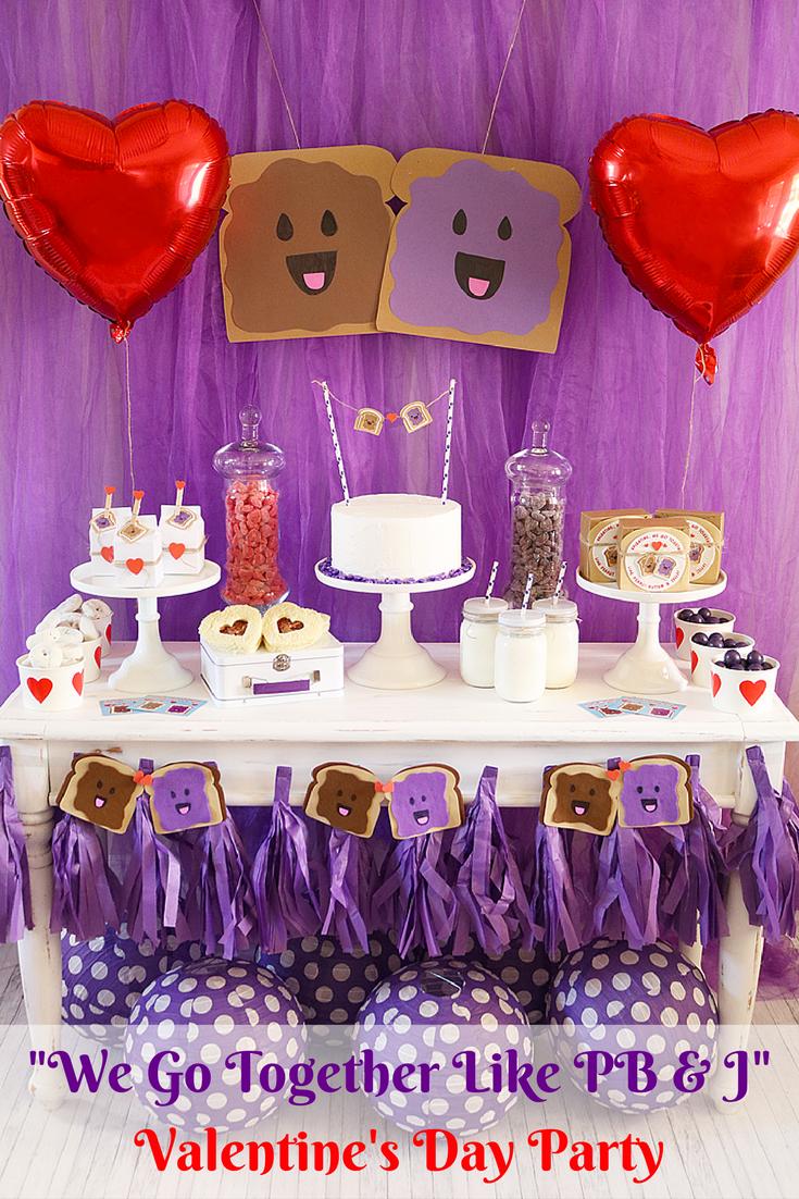 Photo of Wir gehen zusammen wie PB & J Valentinstagsparty – Michelle's Party Plan-It