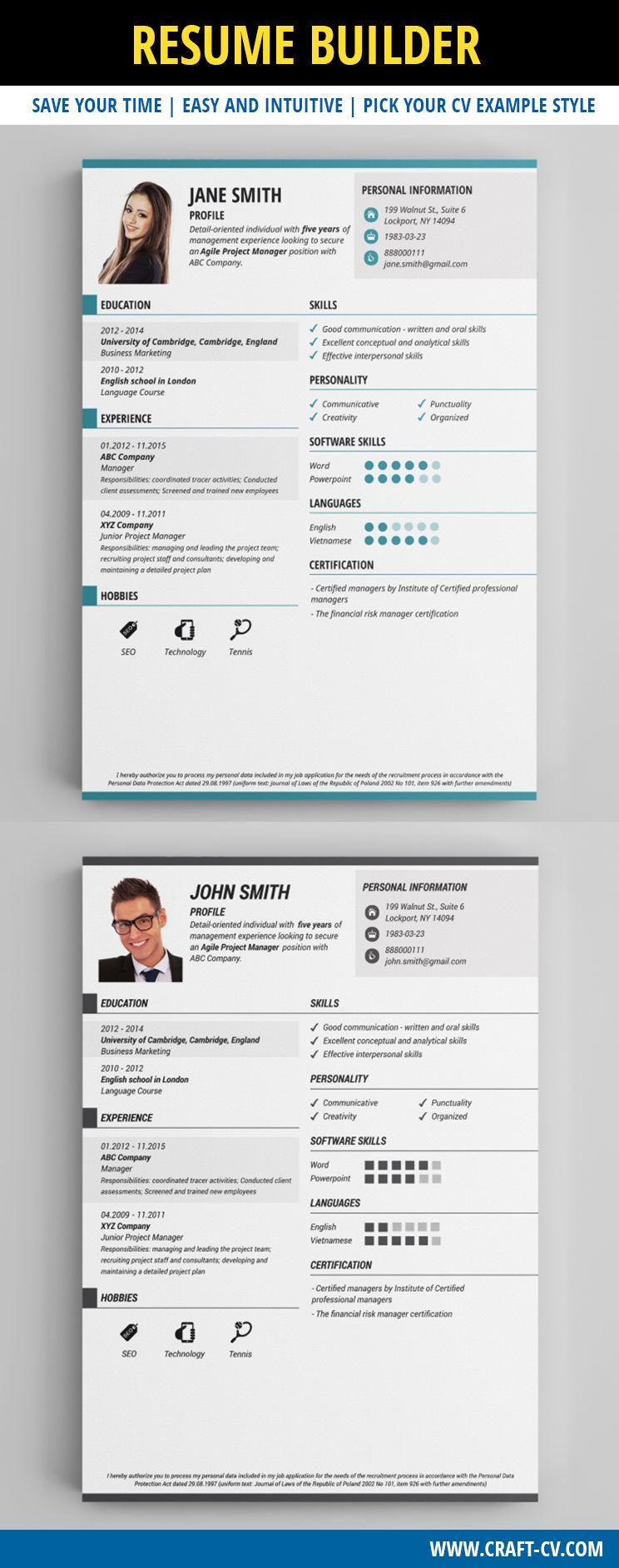 Cv Maker  Creative Cv Examples Resume Creativeresume