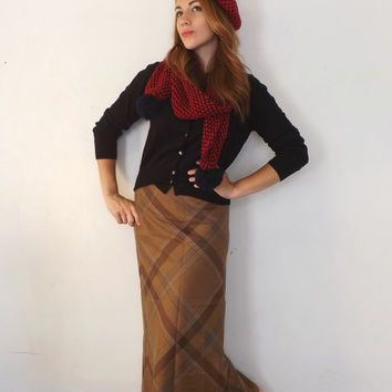 Vintage Size 6 Retro Ralph Lauren Pencil Maxi Skirt Long Clas.