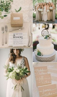Forest Green and Taupe - 12 Perfect Combinations for Fall Wedding Colors - EverAfterGuide