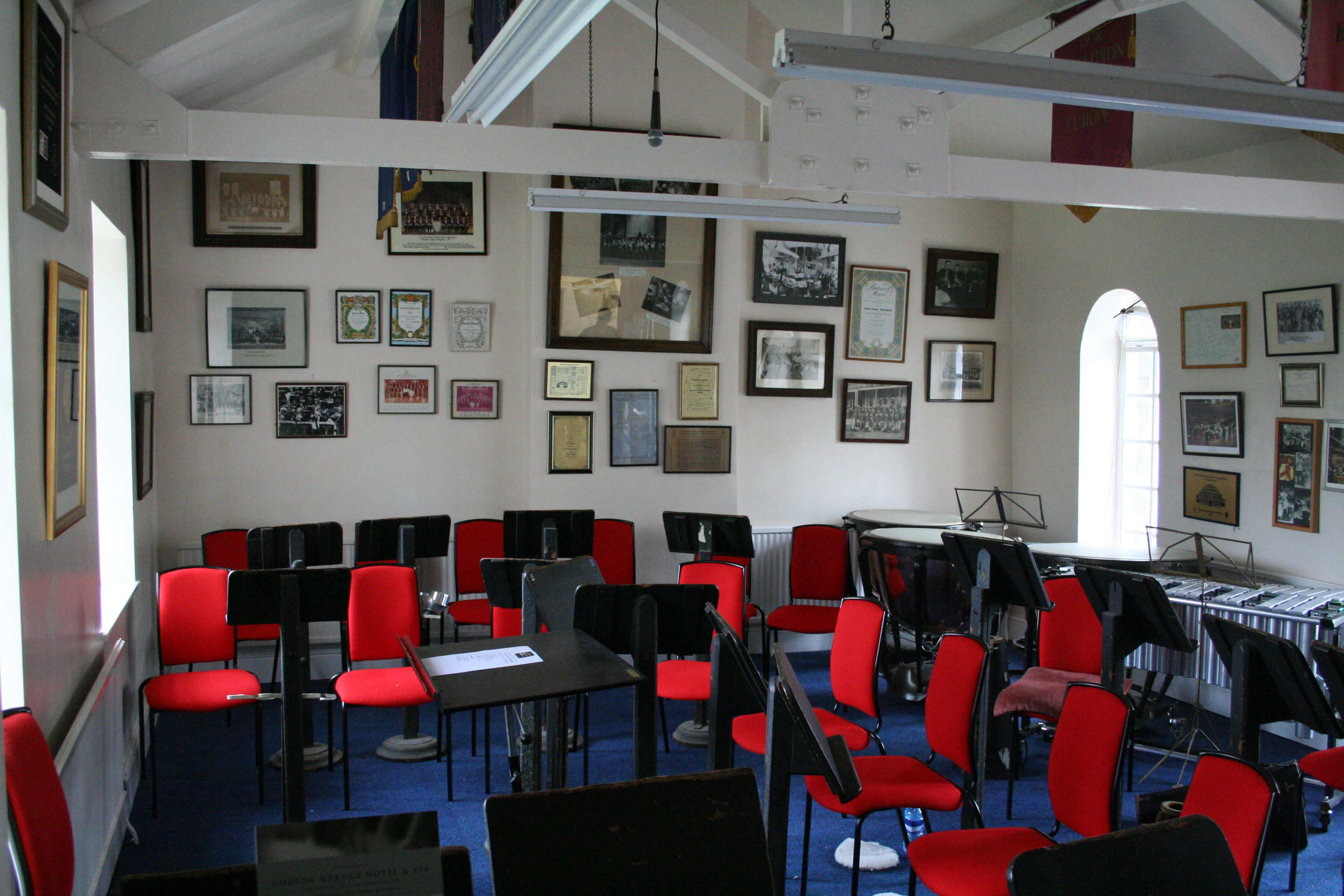Opus 1s at Black Dyke Band practice hall  The Opus 1 is the