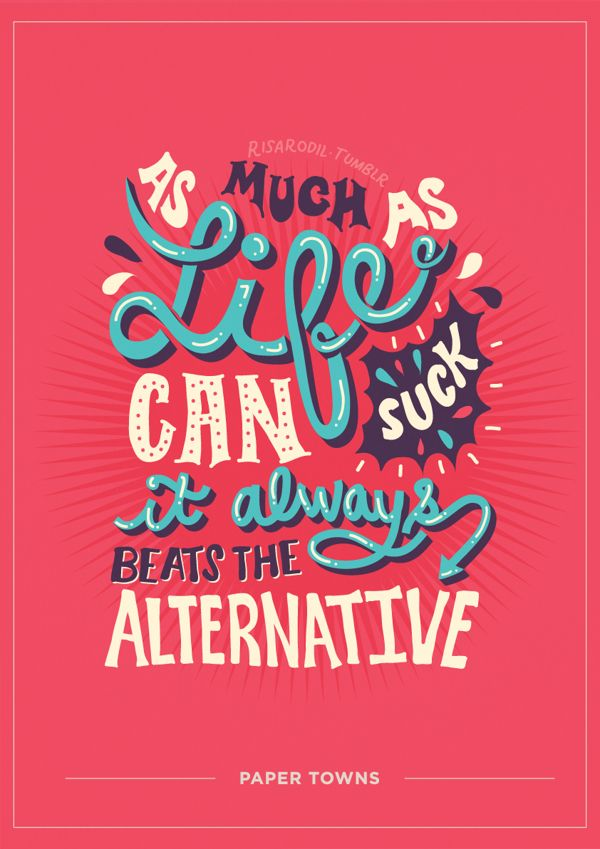 Paper Towns Book Cover Ideas : Paper towns by risa rodil via behance lettering and