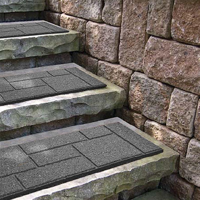 Garden Stair Treads Set Of 4 Outdoor Path Slip Resistant Patio Slabs  Decoration