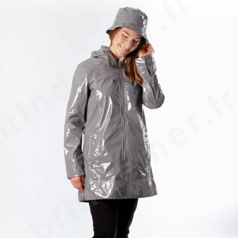imperm able cir brillant 3 4 femme couscous doubl l ger gris rainwear pinterest. Black Bedroom Furniture Sets. Home Design Ideas