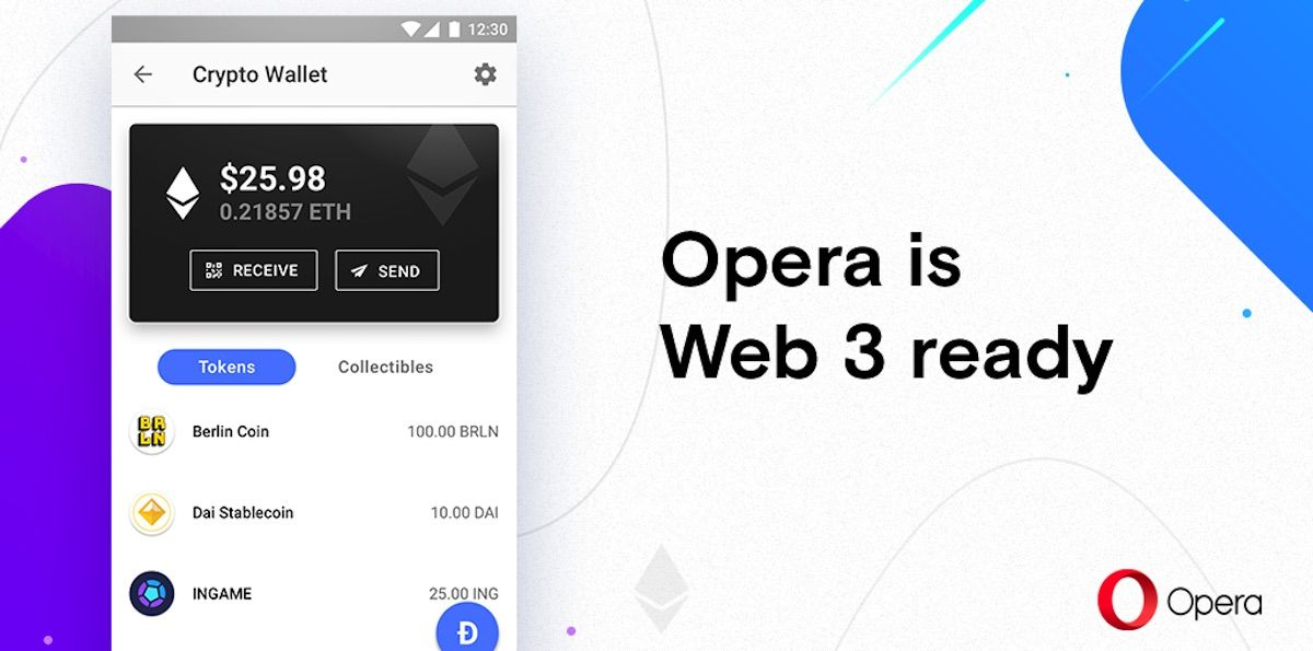 Opera for Android is now Web 3ready, cryptocurrencies