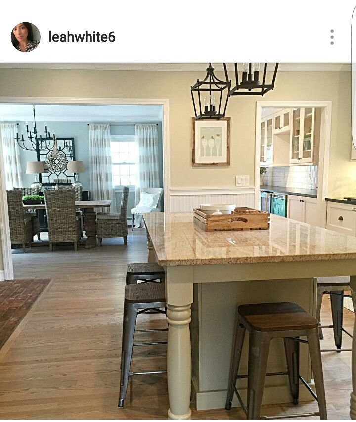 Two Tone Kitchen Wall Colors: By @leahwhite 6. Wall Color Sherwin Williams Grecian Ivory