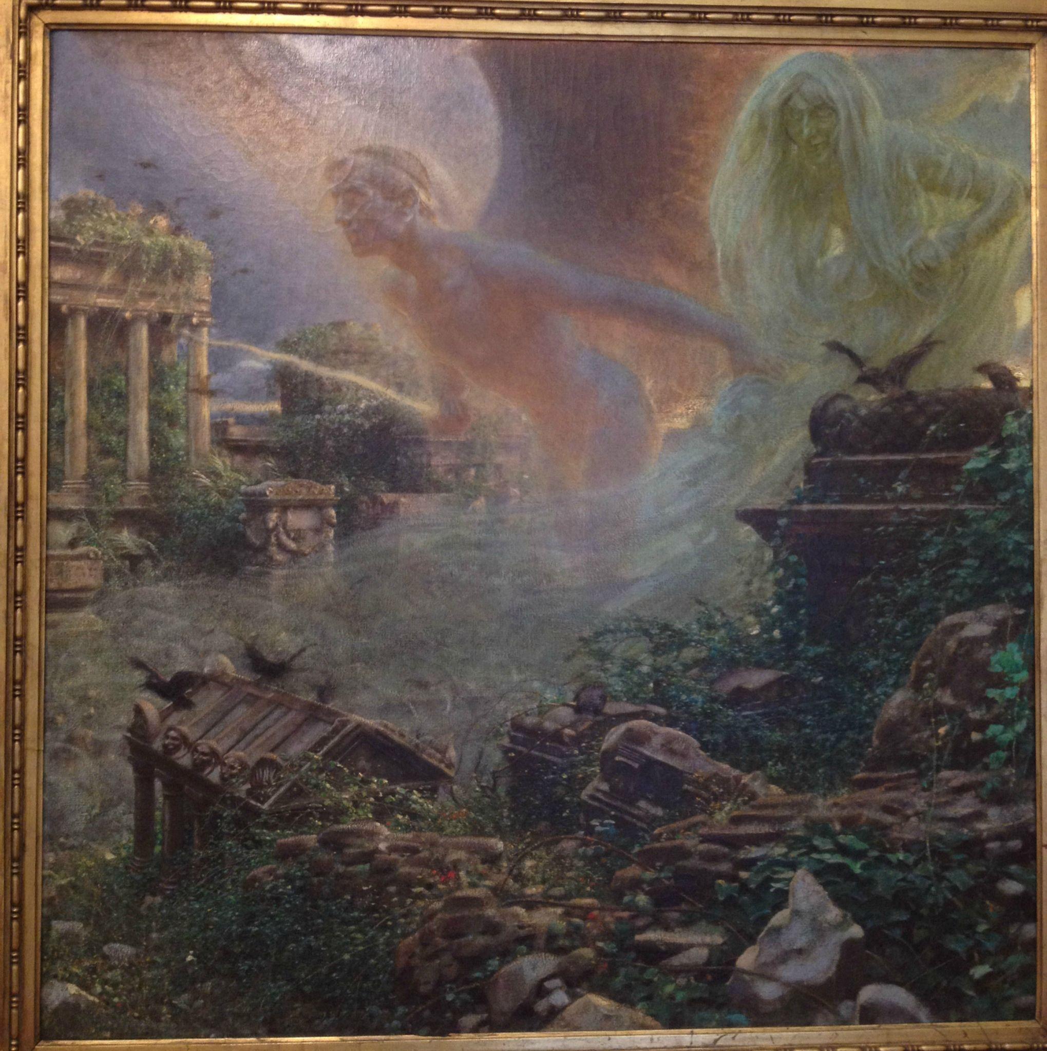 Adolf Hiremy Hirschl (1860-1933) 'Sic Transit...' | Fantastic art, History painting, Painting