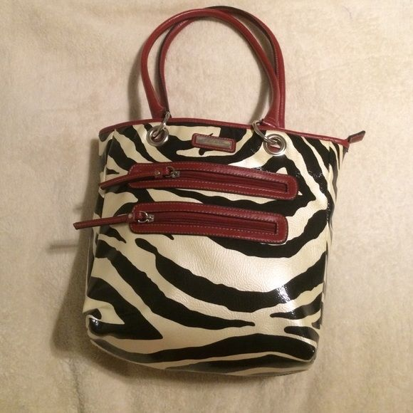 """Strada bag Zebra black and white style Lovely hand bag /Colors Black White/ Material 100% vynol Polyester / Size L10"""" W 5"""" H 10"""" . Brand new never worn. Buy now ! Strada Bags Shoulder Bags"""