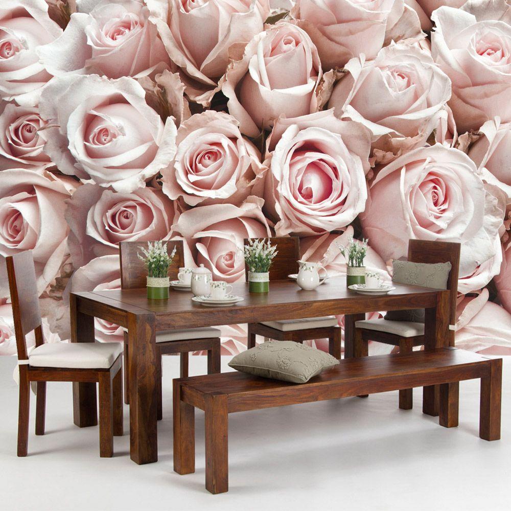 vlies fototapete rosen rosenk pfe rose in den gr en. Black Bedroom Furniture Sets. Home Design Ideas