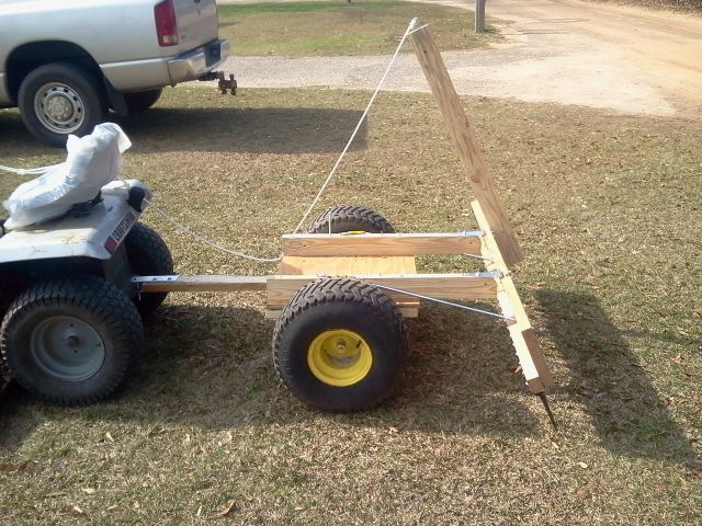 Pinestraw Rake In Rake Position Diy Lawn Tractor Idea Lawn Mower Tractor
