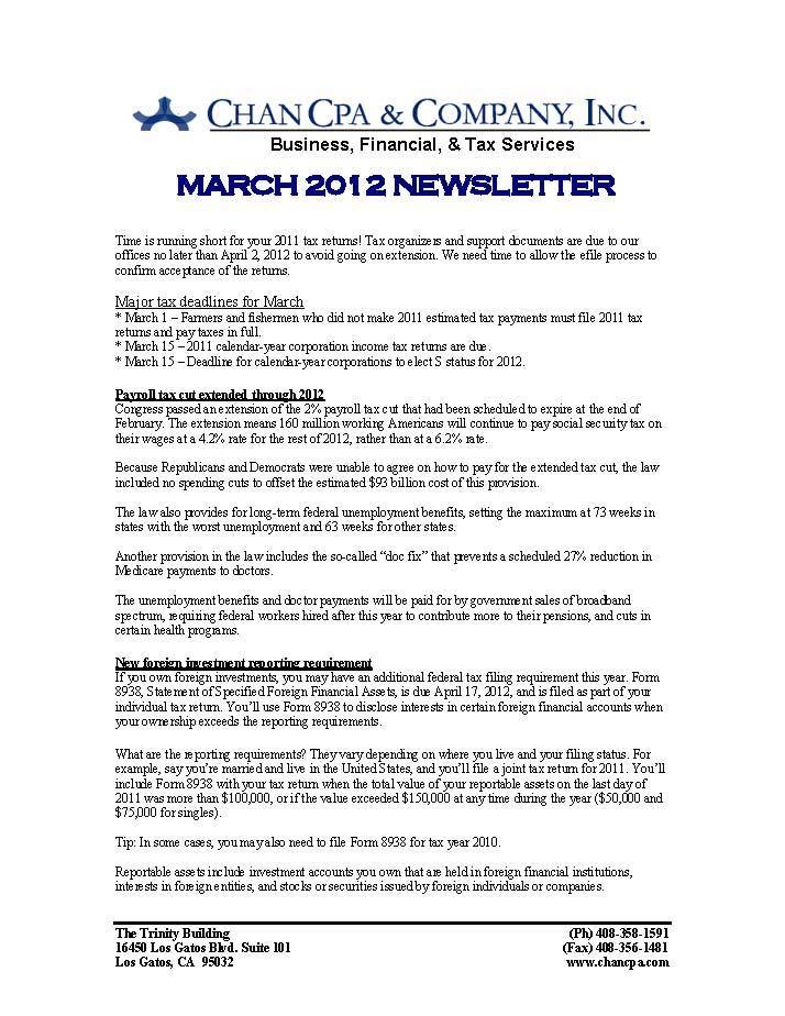 March  Newsletter Page   Chan Cpa Monthly Newsletters
