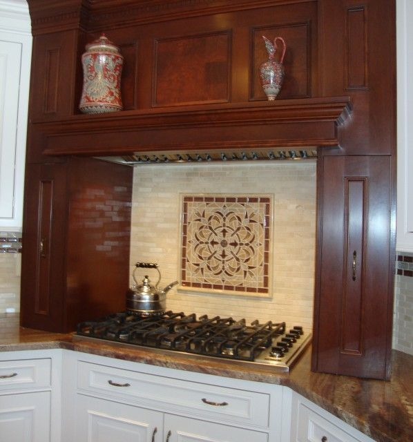 Kitchen Backsplash Medallions mosaic tile backsplash |  with tailored marble tiles, glass