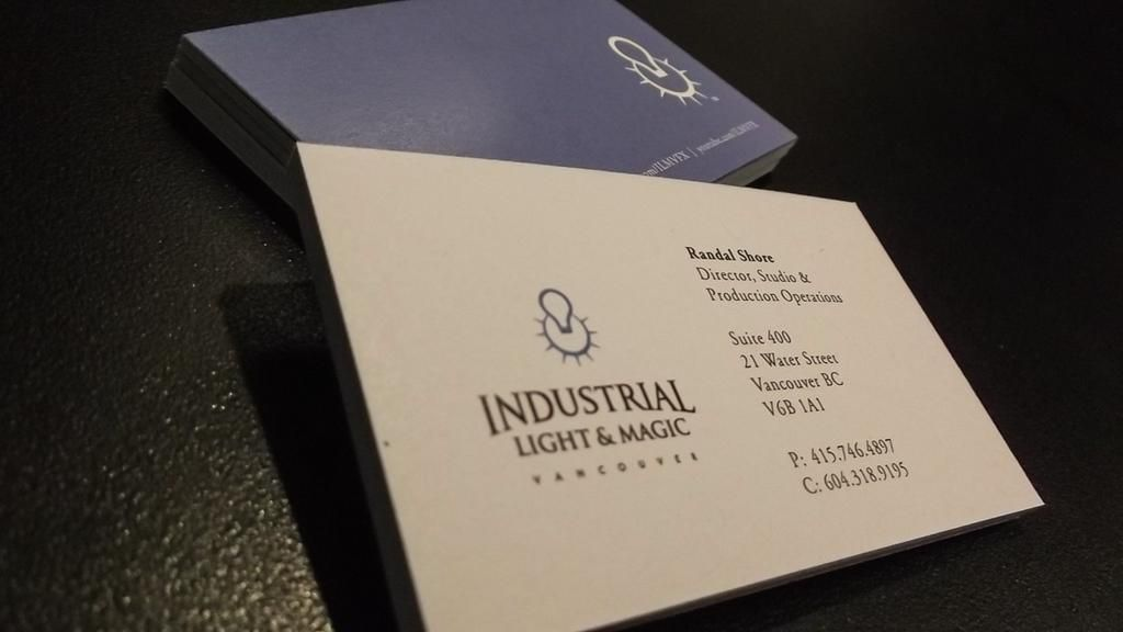 Business card for industrial light and magic business cards business card for industrial light and magic colourmoves Gallery