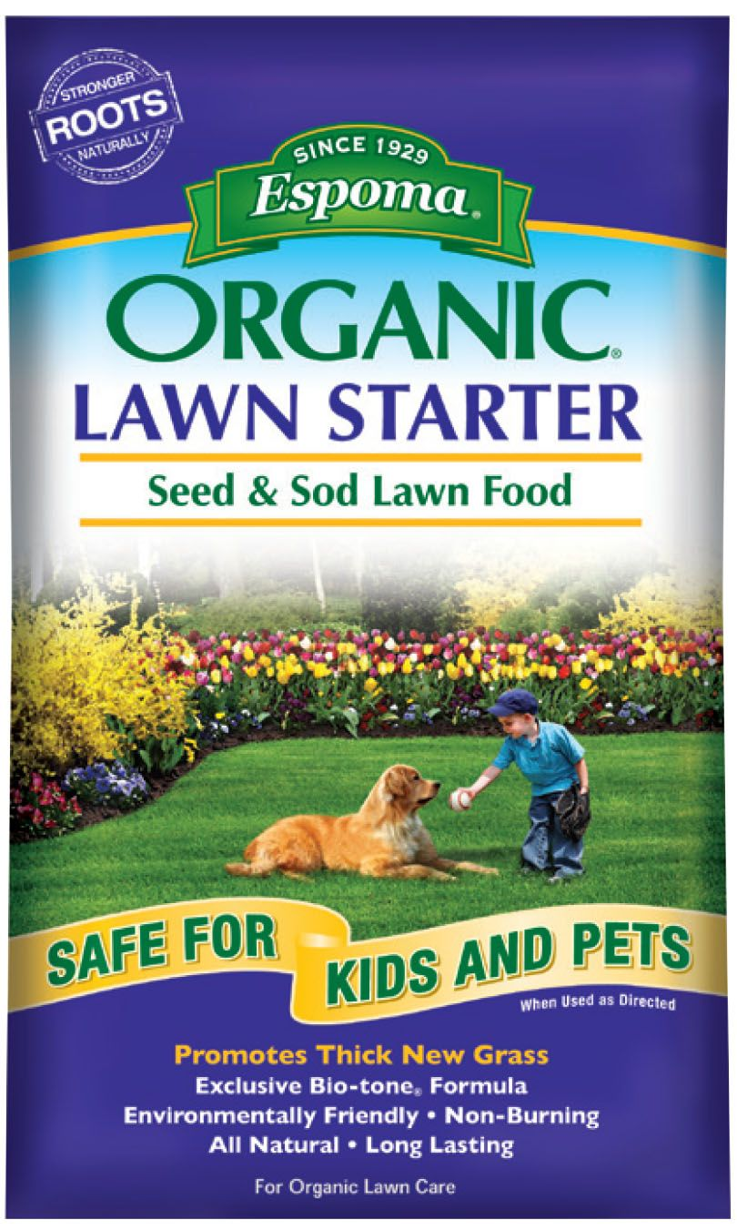Espoma Organic Lawn Starter With Proprietary Bio Tone Microbes Is A Premium Lawn Food That Is Ideal For Establishing Organic Lawn Lawn Food Organic Lawn Care